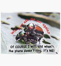 When you're waiting by the phone, and the phone doesn't ring, it's me! Poster