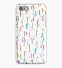 Cursive Alphabet iPhone Case/Skin
