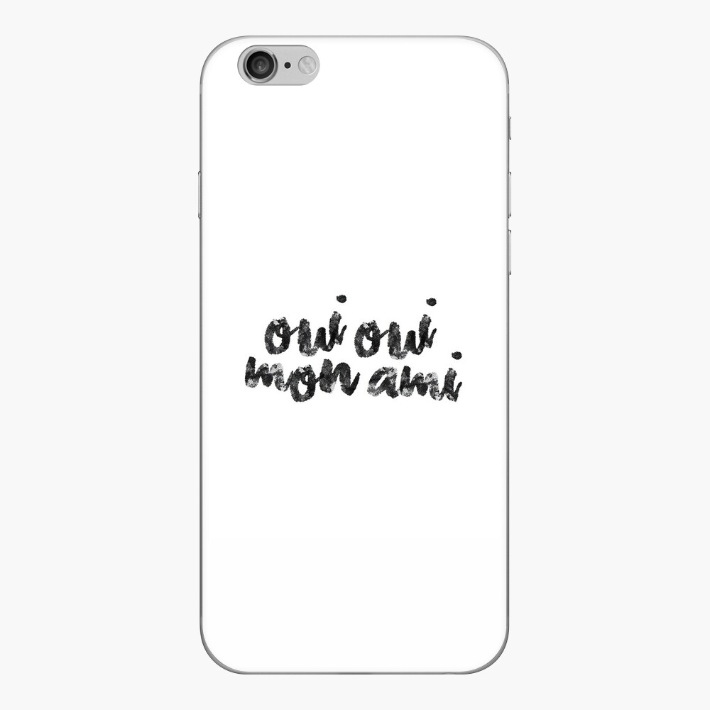 Oui Oui Mon Ami Vinilo para iPhone