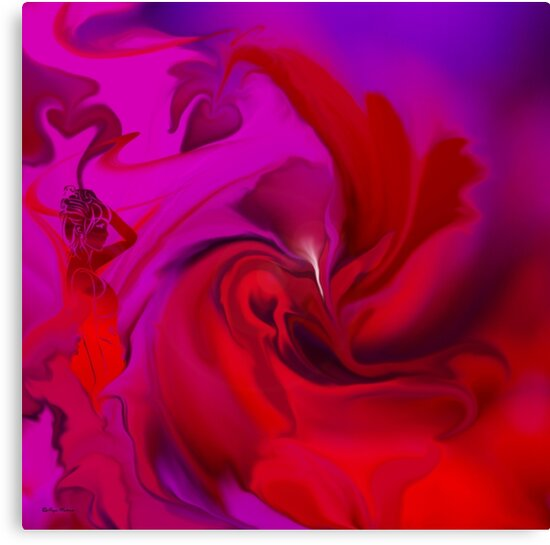 Woman in love - ABSTRACT-ART + Product Design by haya1812