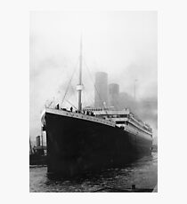Titanic in dock in Southampton Photographic Print