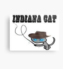 Indiana Cat Metal Print
