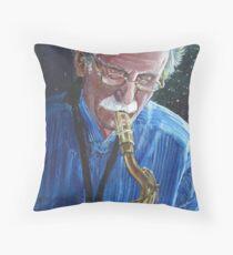 Saxephoneplayer Throw Pillow