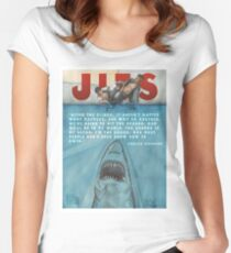 JITS - Mat is Ocean - TITLE AND QUOTE Women's Fitted Scoop T-Shirt