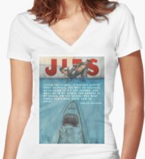 JITS - Mat is Ocean - TITLE AND QUOTE Women's Fitted V-Neck T-Shirt