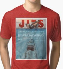 JITS - Mat is Ocean - TITLE AND QUOTE Tri-blend T-Shirt