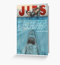 JITS - Mat is Ocean - TITLE AND QUOTE Greeting Card