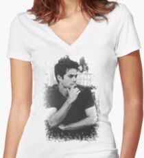 Dylan O'Brien Women's Fitted V-Neck T-Shirt