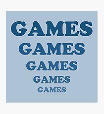 Games Games Games Games Games Photographic Print