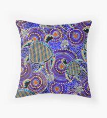 Aboriginal Turtle Art Throw Pillow