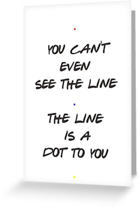 The line is a dot to you greeting cards by hannabtti redbubble the line is a dot to you by hannabtti m4hsunfo