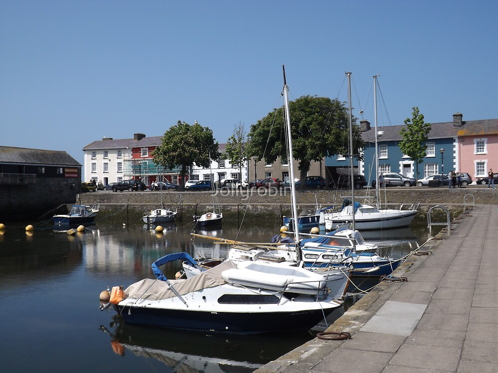 Boats At Aberaeron, West Wales by Jollyrobin