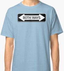 Both Ways Street Sign - LGBT Classic T-Shirt
