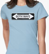 Both Ways Street Sign - LGBT T-Shirt