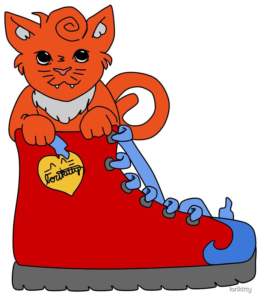 Kitty In A Shoe by lorikitty