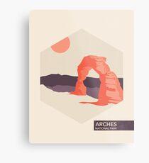 Arches National Park Travel Art Metal Print