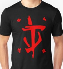 Mark of the Doom Slayer - Red Slim Fit T-Shirt