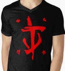 Mark of the Doom Slayer - Red Men's V-Neck T-Shirt