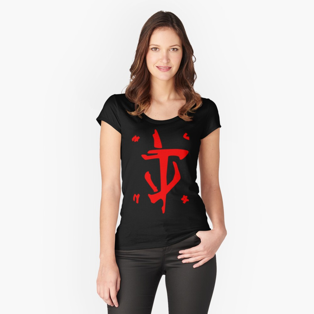 Mark of the Doom Slayer - Red Fitted Scoop T-Shirt