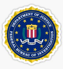 FBI AUTHENTIC SEAL / STAMP Sticker