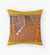 Golden Stairs Throw Pillow