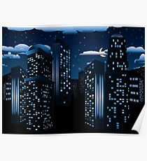 Night Cityscape Background Poster