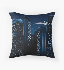 Night Cityscape Background Throw Pillow