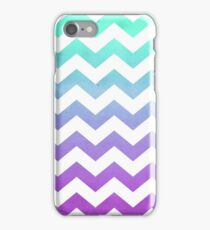 Purple Mint Aqua Ombre Chevron Pattern iPhone Case/Skin