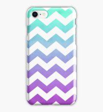 Purple Mint Aqua Ombre Chevron Pattern iPhone Case/Skin