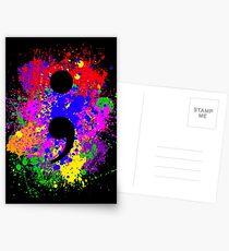 Semicolon Paint Splatter Postcards