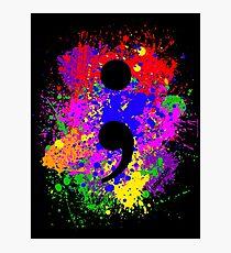 Semicolon Paint Splatter Photographic Print