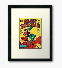Blue Beetle Comic Cover Framed Print