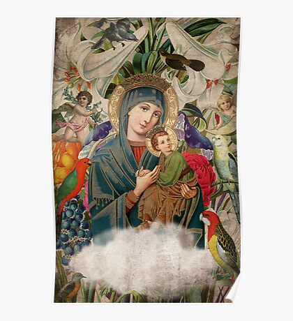 Saints Collection -- Madonna And Child Poster