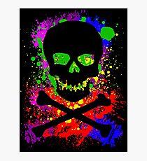 Paint Splatter Skull Photographic Print