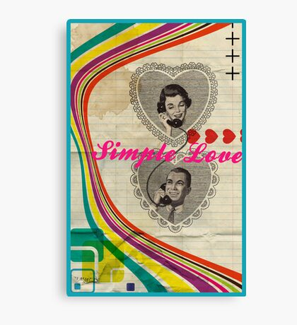 Retro Collection  --  Simple Love Canvas Print