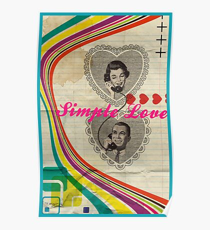 Retro Collection  --  Simple Love Poster