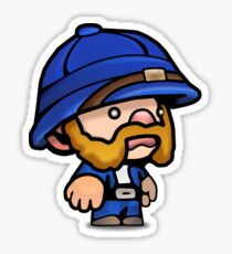 Spelunky - Blue Hunter Sticker