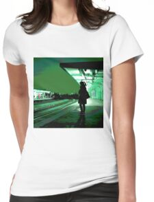 Chiswick Station, Green Womens Fitted T-Shirt
