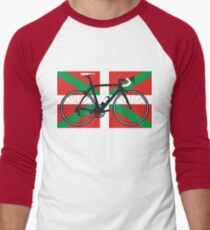Bike Flag Basque (Big - Highlight) Men's Baseball ¾ T-Shirt