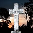White cross at sunset by VisualFX