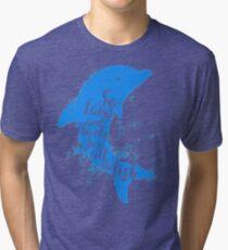 Thankful Dolphin Tri-blend T-Shirt