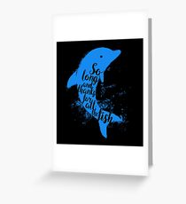 Thankful Dolphin Greeting Card