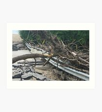 Bridge Destroyed by Flooding in Manitoba Art Print