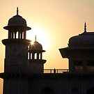 A Sunset Silhouette at the Itmad-ud-Daulah Mausoleum, Agra. by John Dalkin