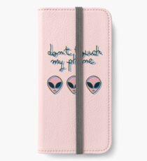 Don't Touch My Phone // Alien 3D Vaporwave Indie iPhone Wallet/Case/Skin
