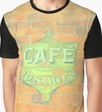 Cafe Upstairs Brickwork Graphic T-Shirt