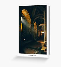 San Michele, Pavia, Italy Greeting Card