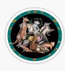 Australian fauna plate Sticker