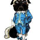 Pug Blueboy by Veronica Guzzardi