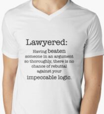 Lawyered definition Men's V-Neck T-Shirt